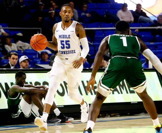 MTSU guard Antonio Green leads the team with 18.3 points per game overall and 17.9 points per game in conference play.