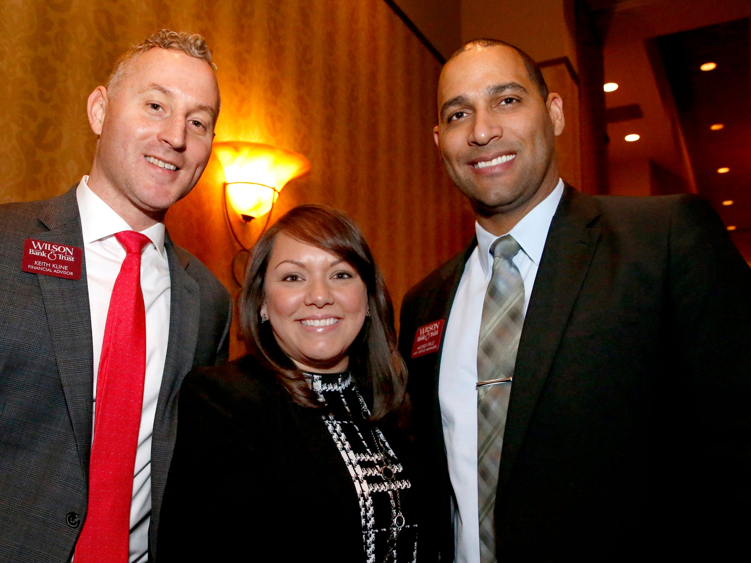 Keith Kline, left, Leslie Pionke , center and Moises Feliz, right at Business at Its Best held on Wednesday, Jan. 31, 2019 at Embassy Suites.