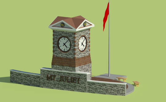 A rendering of a new clock tower planned in Mt. Juliet near East Division and North Mt. Juliet roads.