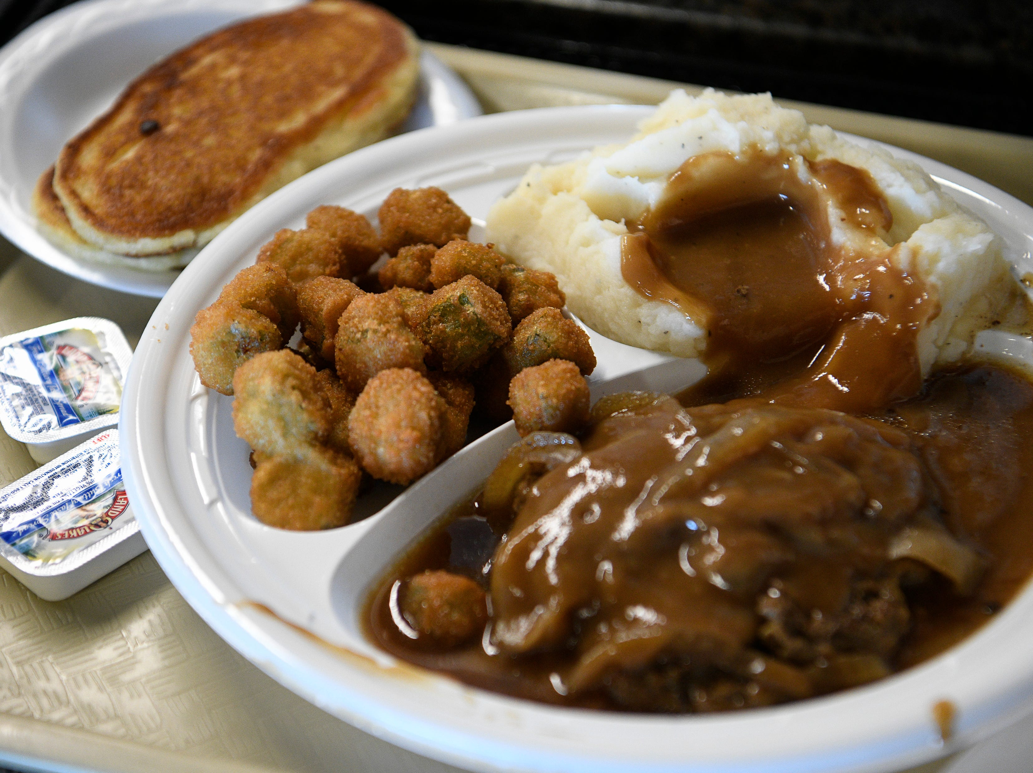 A hot lunch plate from Dairy King Wednesday Jan. 30, 2019 in Nashville, Tenn.