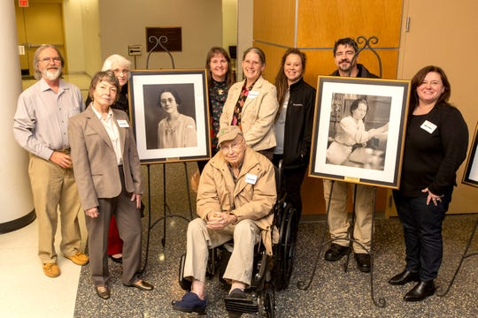 Members of the Friends of Bowie Nature Park attended the VUMC reception and portrait unveiling for six honorees including Anna and Thelma Bowie.