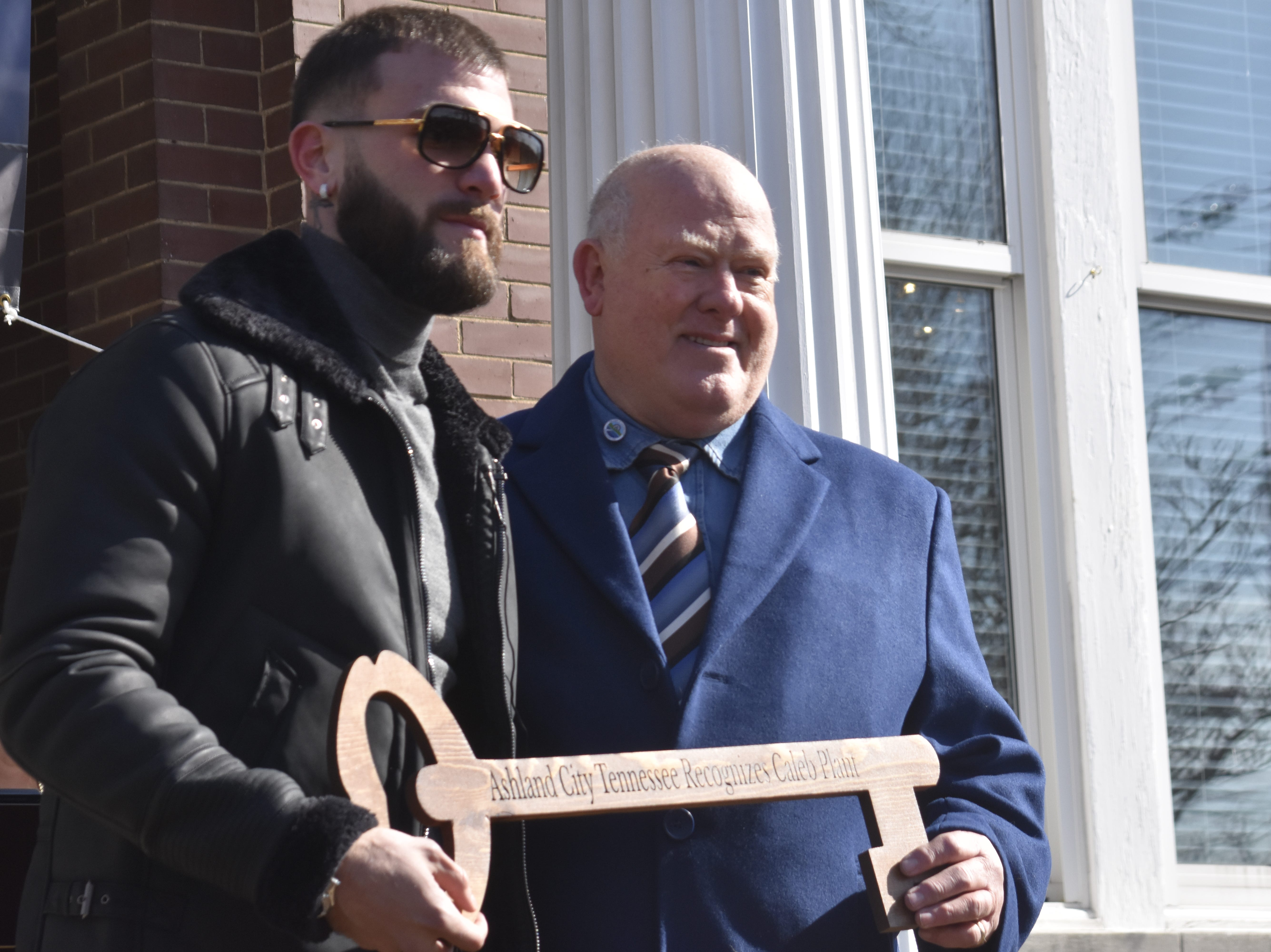 """Caleb """"Sweethands"""" Plant received a key to the city on Thursday, Jan. 31."""