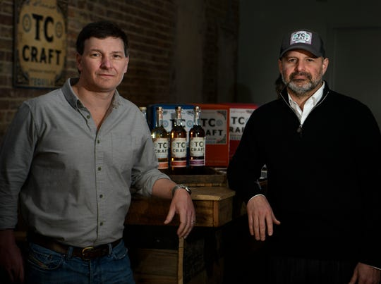 Chad and Todd Bottorff owners of TC Craft Tequila Thursday Jan. 31, 2019 in Nashville, Tenn.