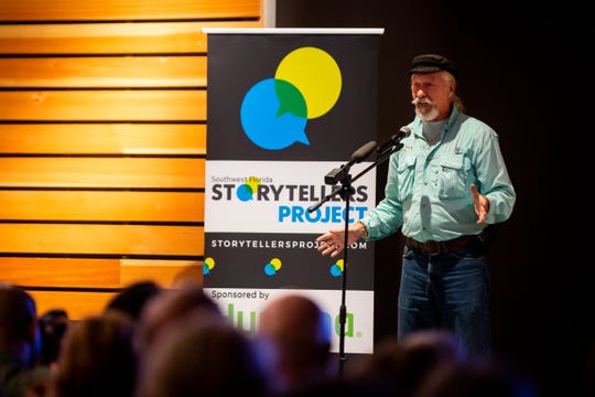 Barry Nicholls tells his story of reconnecting with an old love during the Southwest Florida Storytellers Project at the Naples Botanical Garden in East Naples, on Wednesday, January 30, 2019.