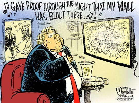 Donald Trump and Super Bowl commentary from Andy Marlette
