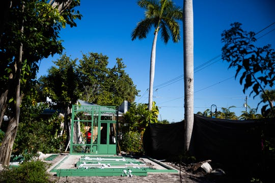 The Everglades Wonder Gardens is constructing two butterfly pavilions on their property in Bonita Springs on January 29, 2019.