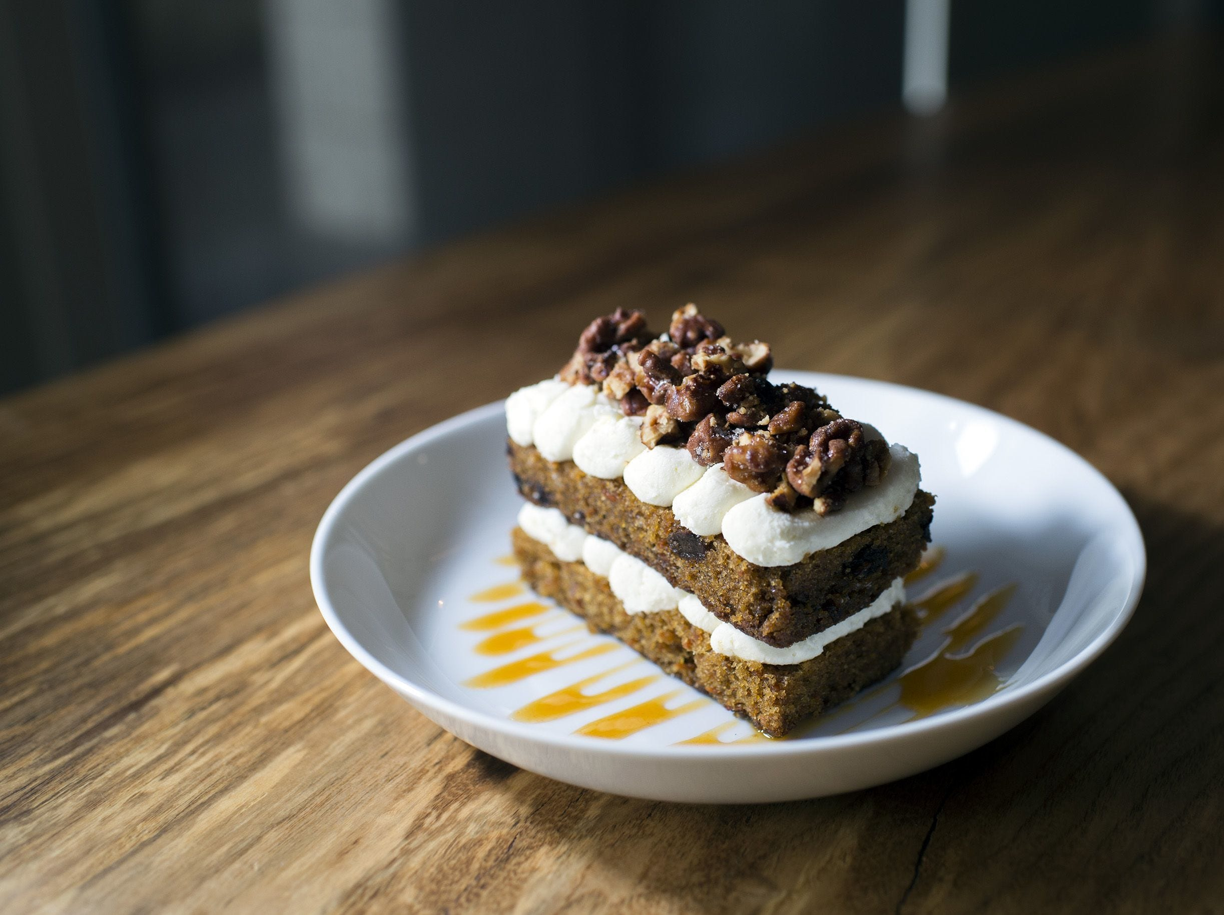 Carrot cake from Hearthside in Collingswood.
