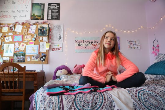 Rebekah Bruesehoff, 12, of Vernon, lives in a religious household.  Her father is a Lutheran pastor in a local church. Tuesday, January 21, 2019
