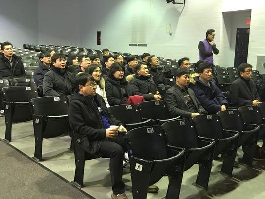 South Korean educators visited Palisades Park high school on Jan. 31.