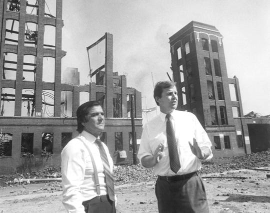 Former Passaic Mayor Joe Lipari. left, with former NJ Governor Tom Kean.