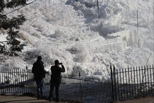 Cold weather hits New Jersey