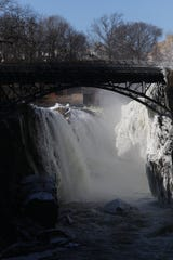 The Great Falls is shown, Thursday afternoon, January 31, 2019, after morning temperatures were in the single digits.