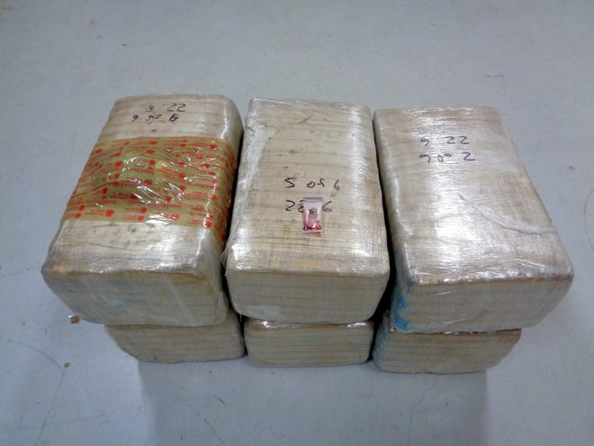 This marijuana seizure weighed just under 136 pounds and had a street value of over $108,000.