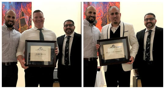 "Adam Roberts, left, and Dennis Sanchez, right, recently graduated from the 12th Leadership New Mexico Connect New Mexico ""The Next Generation of Leadership."""