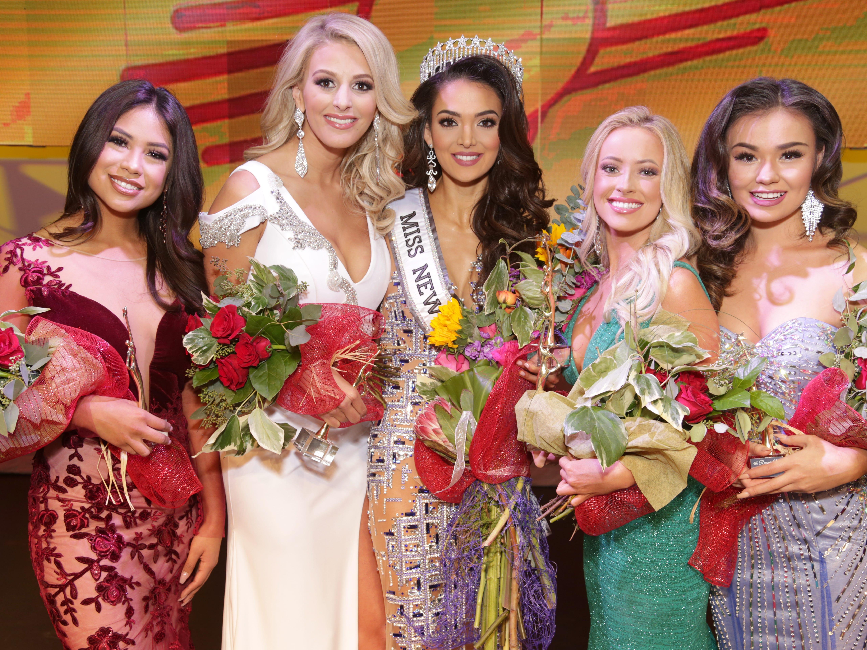 """Miss New Mexico USA 2019 Alejandra """"Allie"""" Gonzalez stands with other Miss New Mexico USA 2019 contestants."""