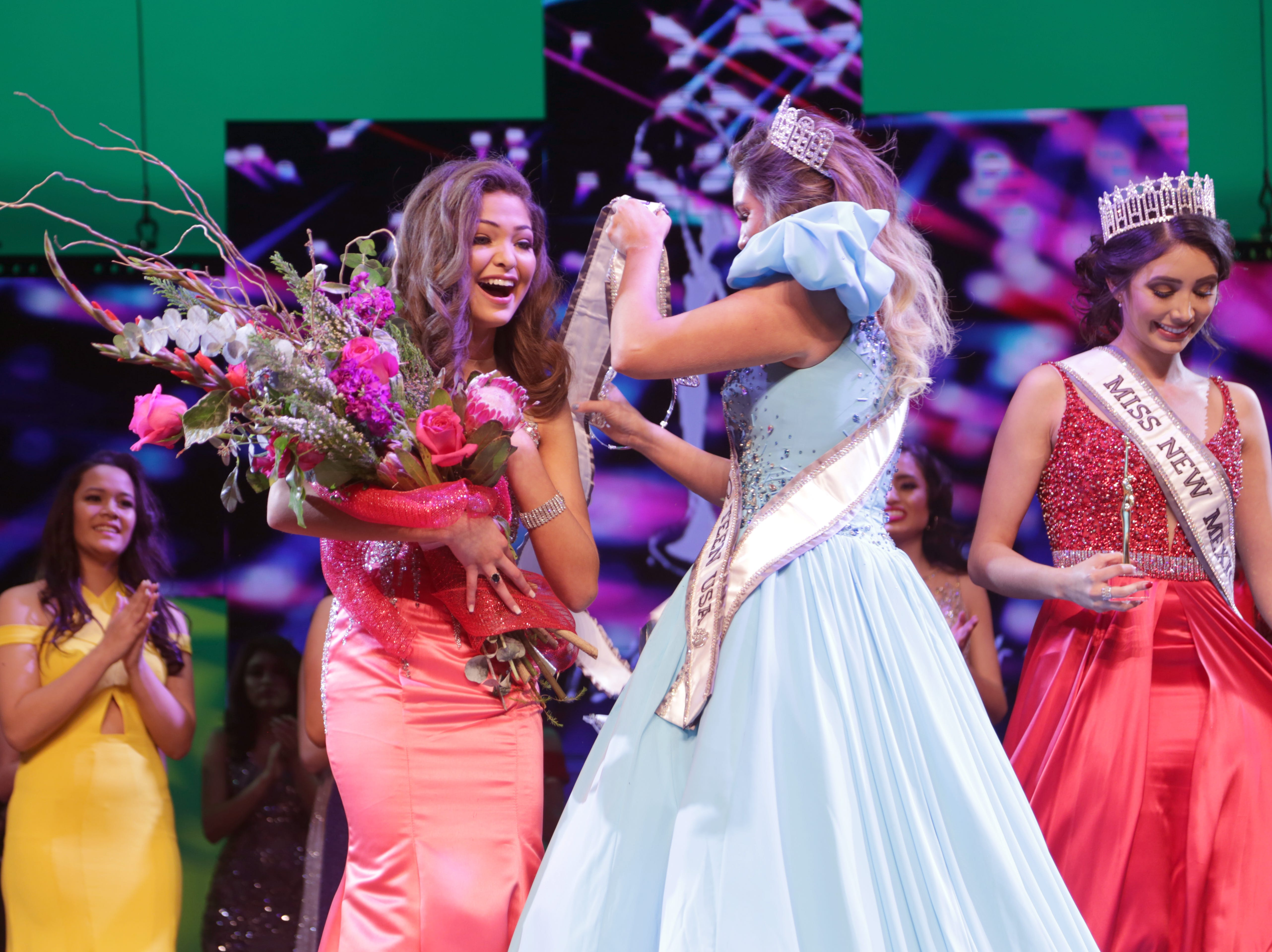 Angela Nanez, 14, was crowned Miss New Mexico Teen USA 2019.