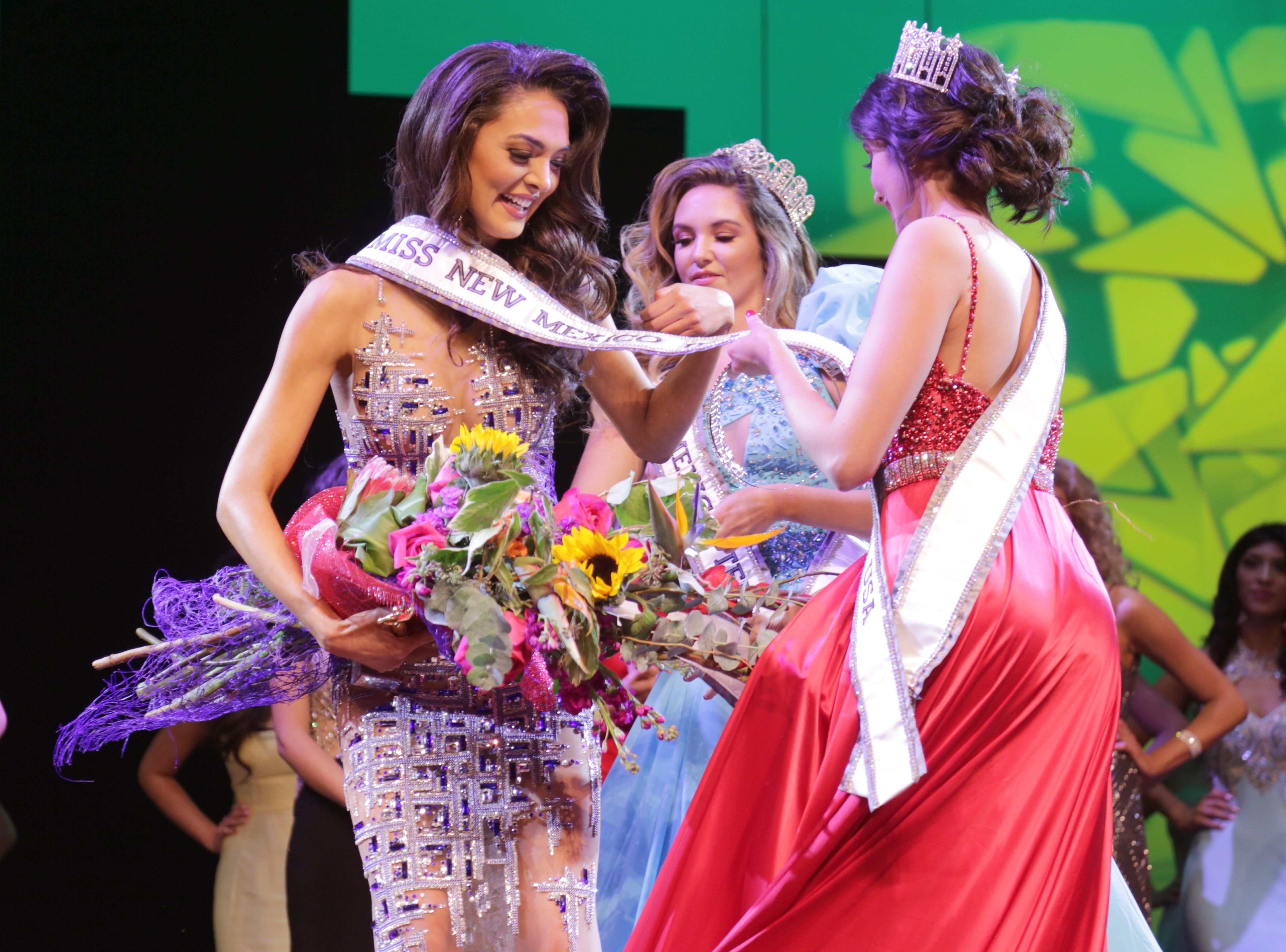 "Miss Las Cruces Alejandra ""Allie"" Gonzalez won the Miss New Mexico USA 2019 crown Sunday, Jan. 27."