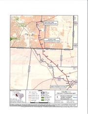 A map of Summit Transmission's planned project to expand its infrastructure.