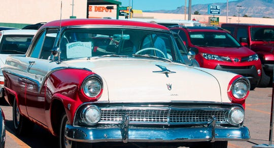 In this 2015 file photo, a vintage car is shown at the Golden Gears Car show at the White Sands Mall parking lot.