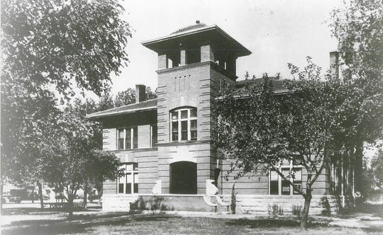 """According to Mrs. Tom Charles, in her book, """"Tales of the Tularosa"""", the Otero County courthouse was built in 1902 by contractor S. E. Pelphrey at a cost of $13,047. Otero County had been created on Jan. 30, 1899 by an act of the 33rd Legislature and named after Territorial Gov. Miguel A. Otero. A new courthouse has built in 1956 to replace the original building."""