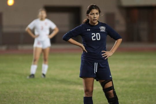 Monica Calderon plays against La Quinta, January 28, 2019.