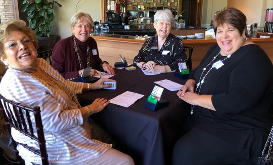 L-R Alba Mattox, Judi Buell, Pat Hatfield, and Jill Beighley having fun for a great cause.