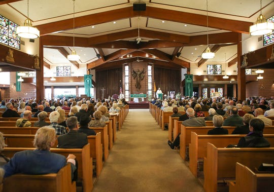 The memorial service for Kaye Ballard at Sacred Heart Catholic Church in Palm Desert, January 30, 2019.