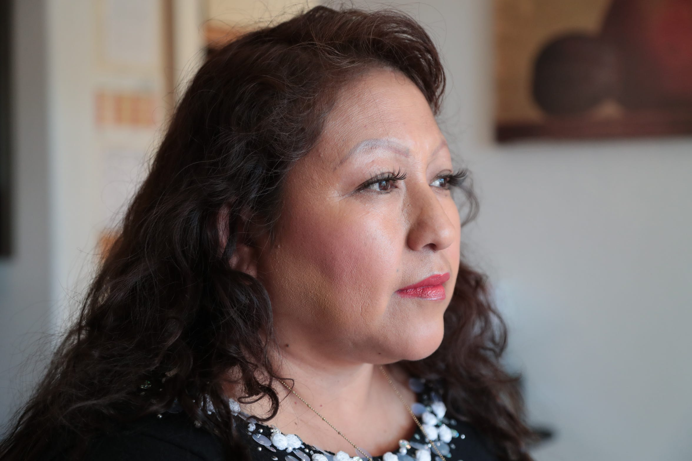 Veronica Juarez is one of the former residents of the Rancho Palms mobile park and a plaintiff in a suit against Rancho Mirage. The suit claims that the city  improperly closed the park, Cathedral City, Calif., December 16, 2018.