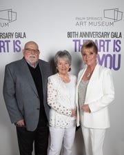 Platinum Sponsor Jan Salta (r) with sister Judy and Scott Harrington.