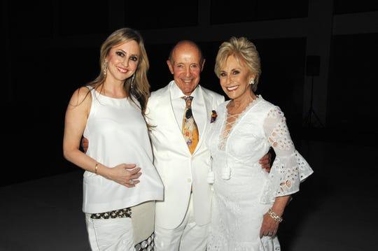 (l-r) Lindsay Berger Sacks (Barbara Keller's daughter), Jerry Keller and Barbara Keller, Gala Co-Chair.