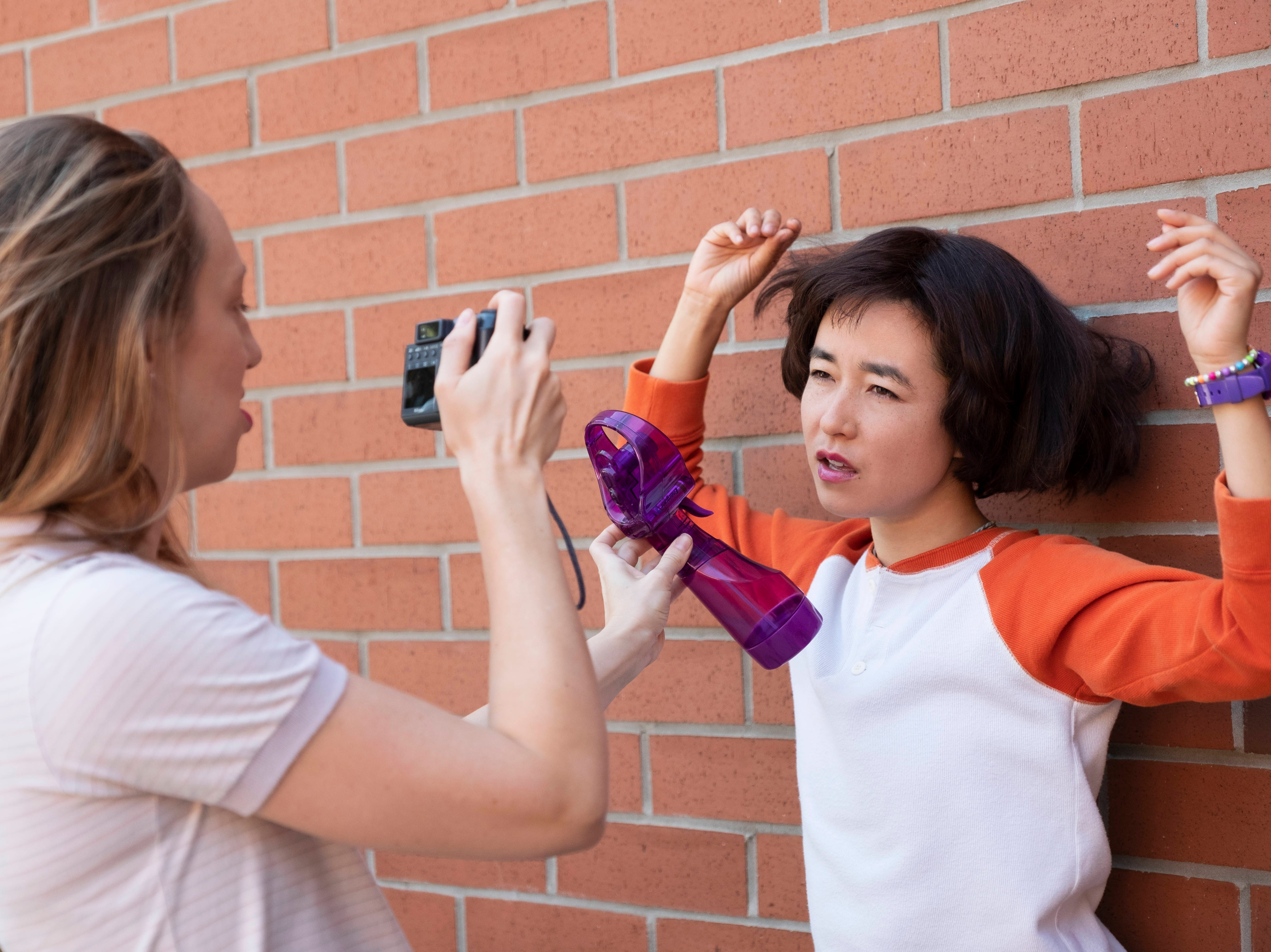 "Anna Konkle (left) and Maya Erskine star in ""PEN15."""