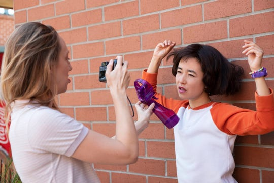 """Anna Konkle (left) and Maya Erskine star in """"PEN15."""""""
