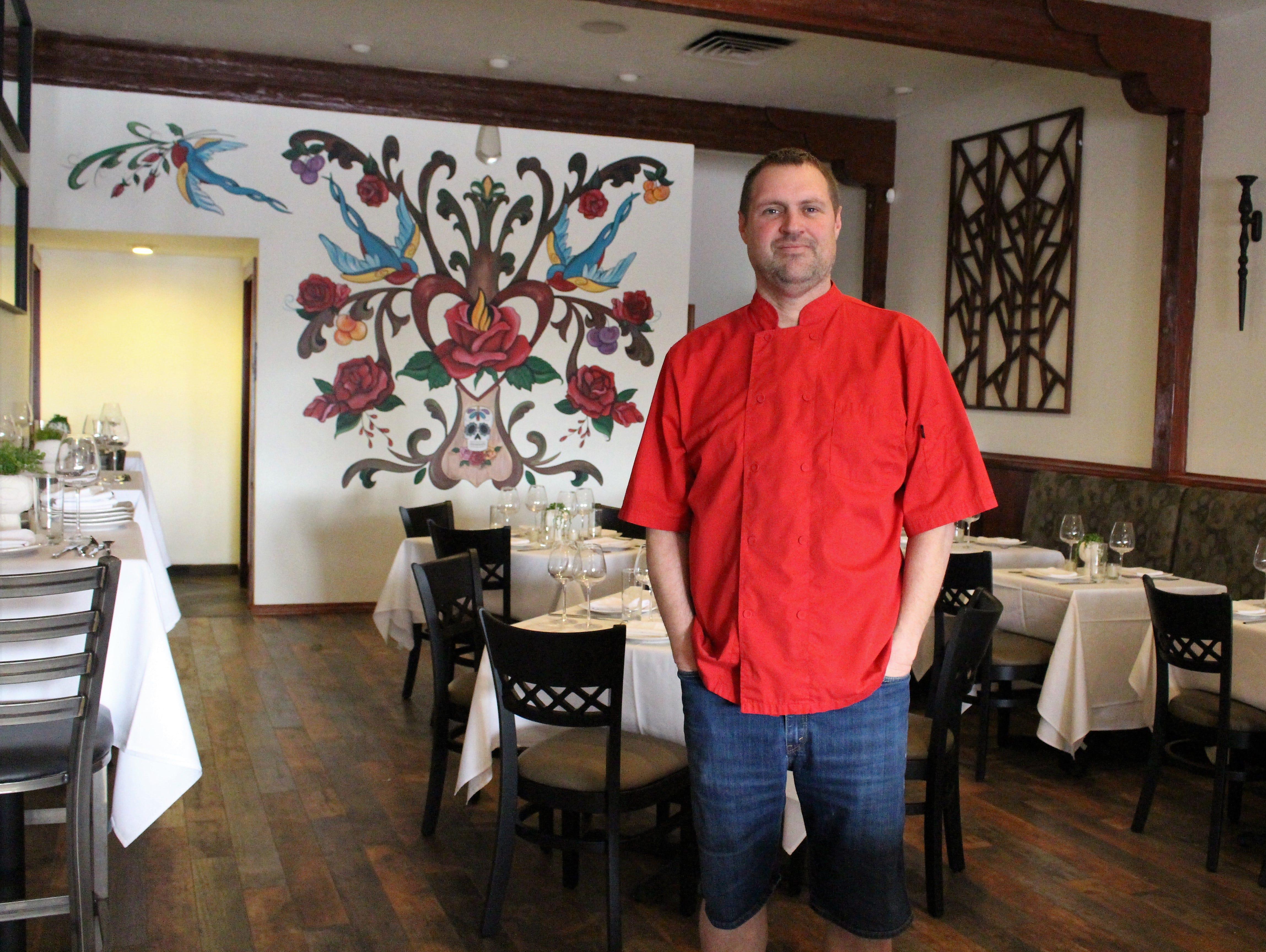 Chef Jason Jason Wyrick at Casa Terra, a vegan fine dining restaurant in Glendale.