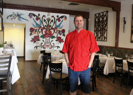 Chef Jason Jason Wyrick at Casa Terra, a vegan fine-dining restaurant in Glendale.