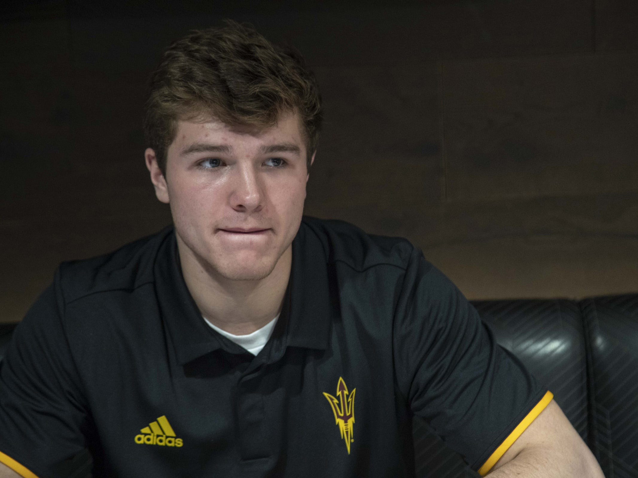 ASU Quarterback, Ethan Long during the ASU Spring Football media day at ASU Tempe campus.