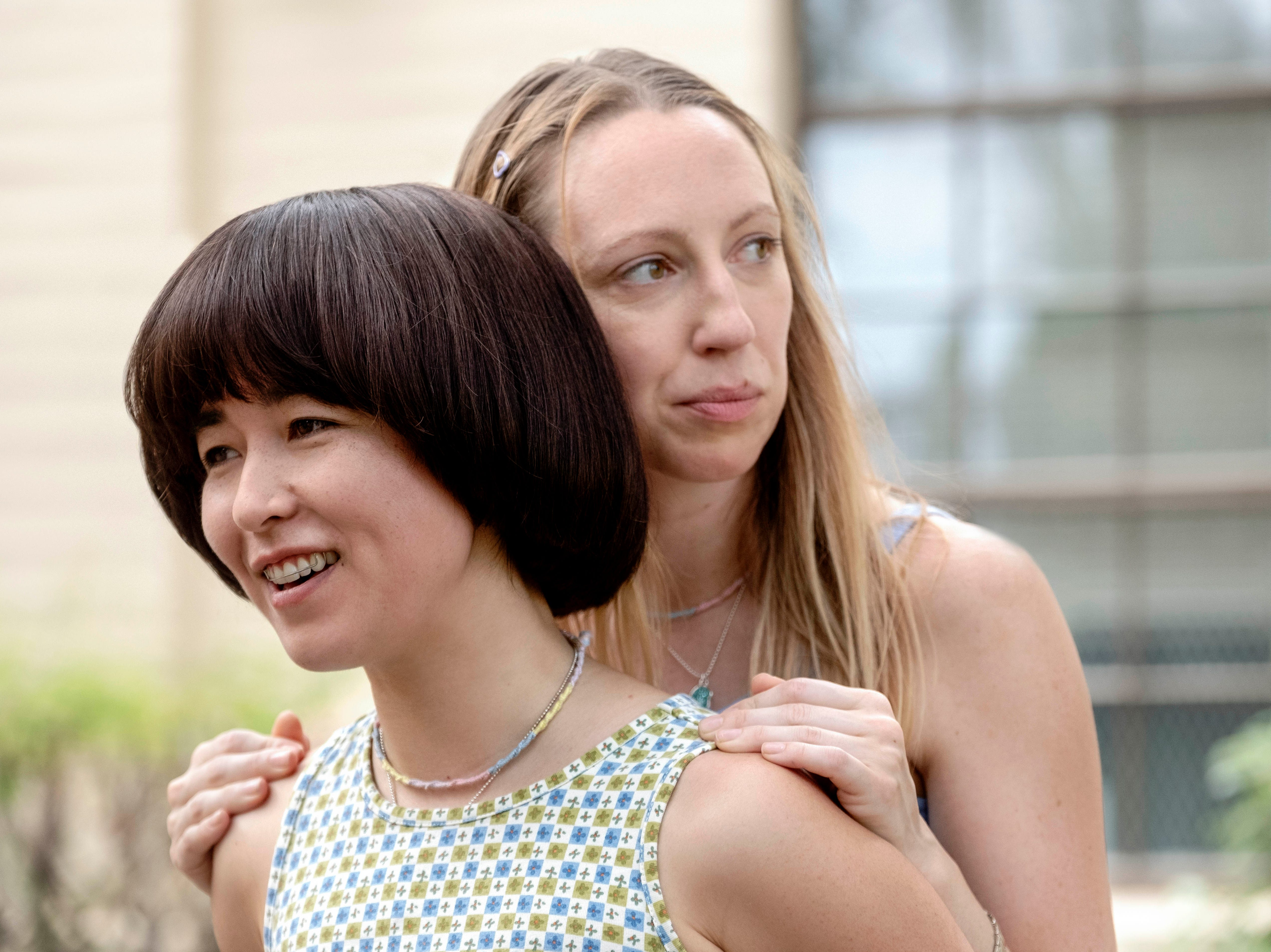 "In the first  episode of ""PEN15,"" viewers meet Maya (Maya Erskine, left) and Anna (Anna Konkle)."