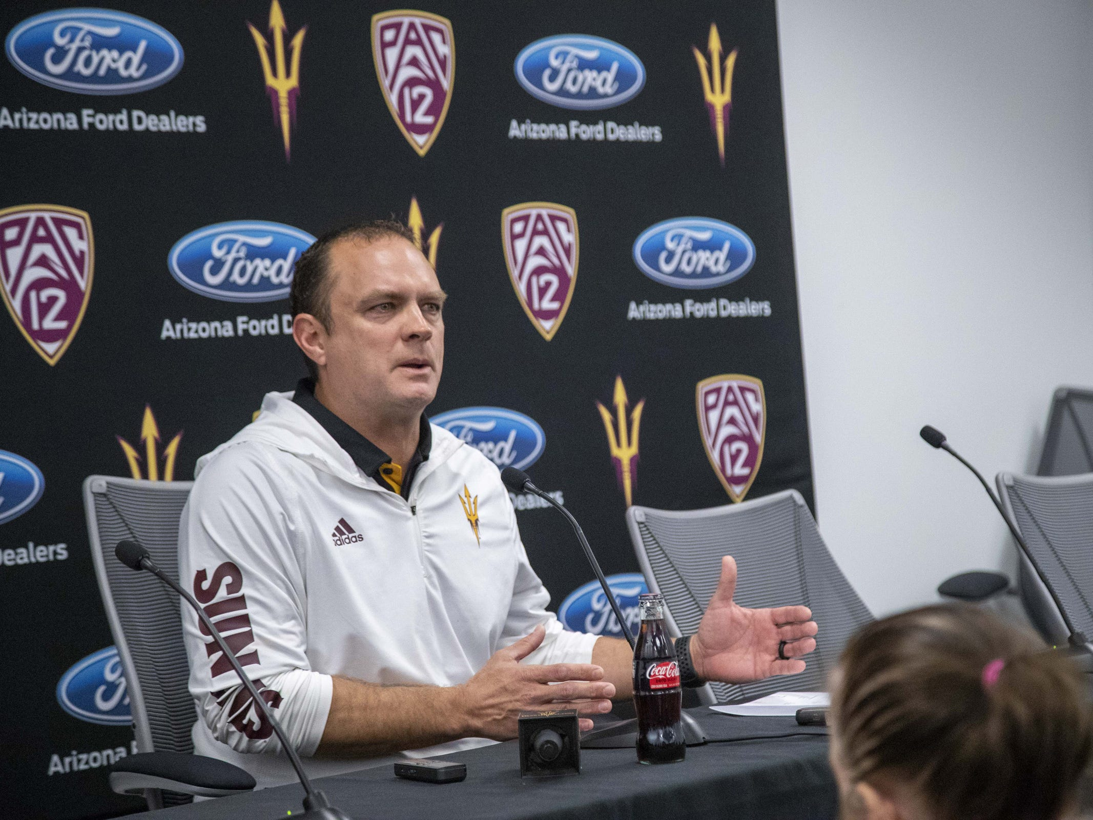 Defensive coordinator Danny Gonzales during the ASU Spring Football media day at ASU Tempe campus.