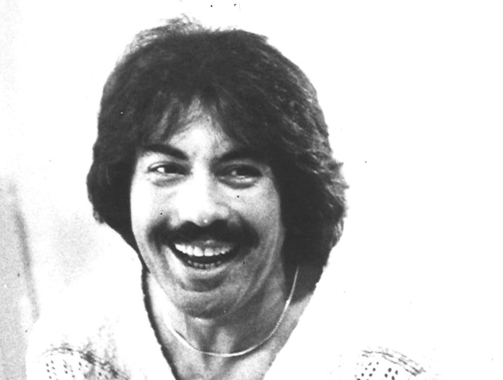 Tony Orlando is seen in 1977.