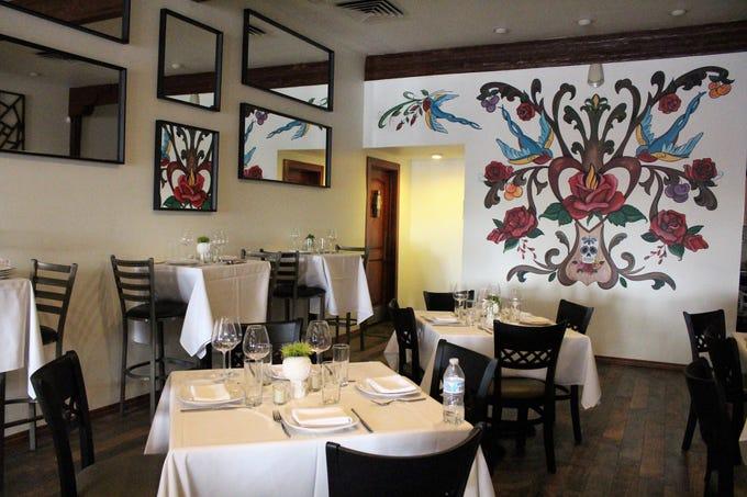 Inside Casa Terra, a vegan fine dining restaurant in Glendale.