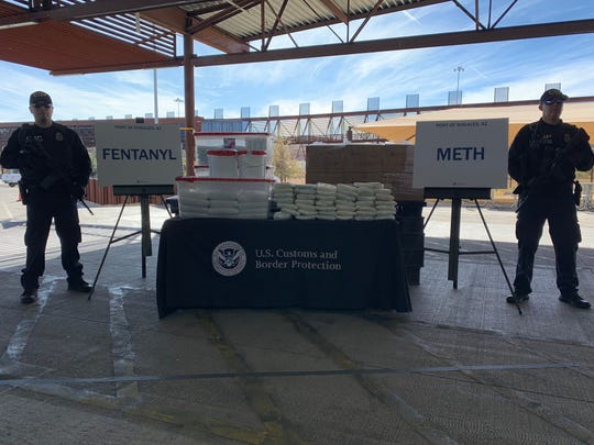 U.S. Customs and Border Protection officers foiled the largest attempt ever to smuggle fentanyl across the U.S.-Mexico border in Nogales.