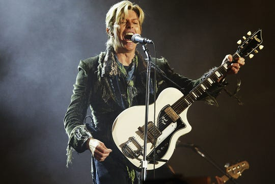 David Bowie performs on the final day of The Nokia Isle of Wight Festival 2004 at Seaclose Park in Newport, U.K.