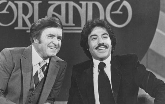"Tony Orlando (left) co-hosted ""The Mike Douglas Show"" in 1979."