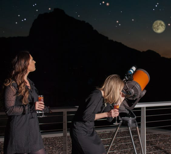"""<strong>FEB. 11 - COCKTAILS UNDER THE STARS AT MOUNTAIN SHADOWS: </strong>With its low light pollution, Mountain Shadows is the perfect spot for stargazing. On Monday, Feb. 11 from 6:30 to 8:30 p.m., the resort will host an astrology-themed cocktail reception on their rooftop deck &mdash; which overlooks Camelback Mountain. An astronomer will guide you to exploring the galaxy through the lens of a telescope. Tickets are $45 and include small bites along with two cocktails, glasses of wine or beer. You&#39;ll need to purchase your tickets at&nbsp;<a href=""""https://www.mountainshadows.com/"""">mountainshadows.com</a>.&nbsp;"""