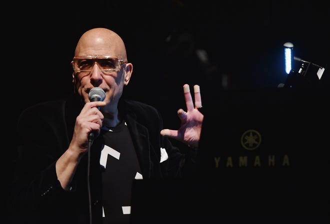 Mike Garson performs at Celebrating David Bowie: A Very Special David Bowie Concert With Bowie People Playing Bowie Music Bowie Style at Terminal 5 on January 10, 2017 in New York City.