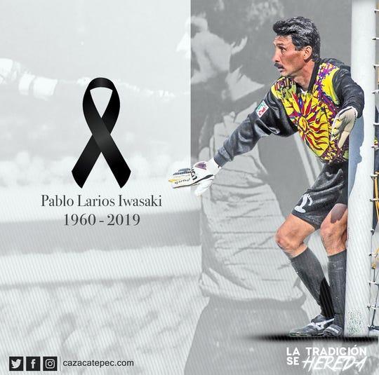 Pablo Larios debutó en el equipo de Zacatepec en 1980.