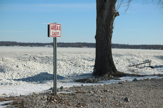 Temperatures have been frigid enough to freeze much of nearby Lake Erie, but officials say ice fishing is not advisable when a wind chill warning is in effect.
