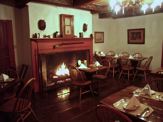 The Hoffman House in Kingston features dining by a fireplace.
