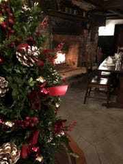 The fireplace at the historic Old Drovers Inn offers a respite from winter.