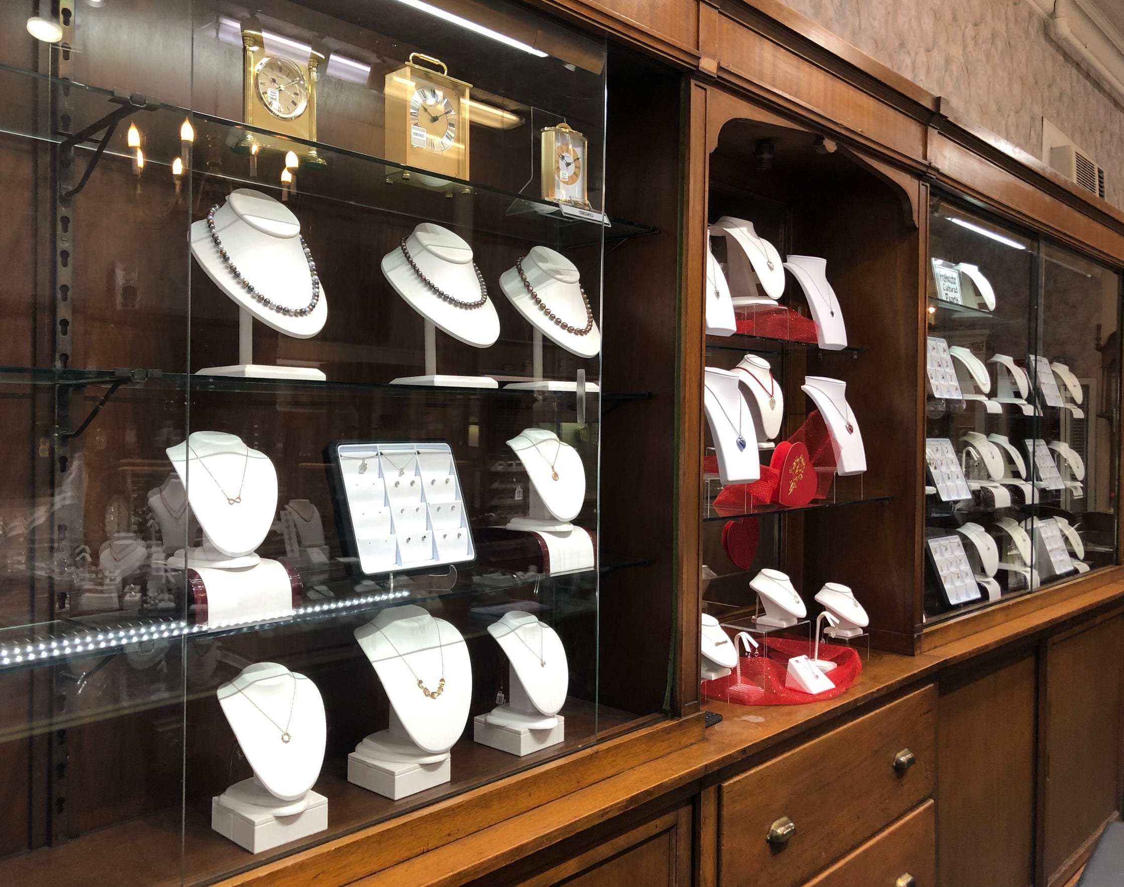 Ludwigs Jewelers in downtown Chambersburg as photographed on Wednesday, Jan. 16, 2019. Today, the store on South Main Street still uses the same cases to display the jewelry that it did when it first opened at its second location in 1902.