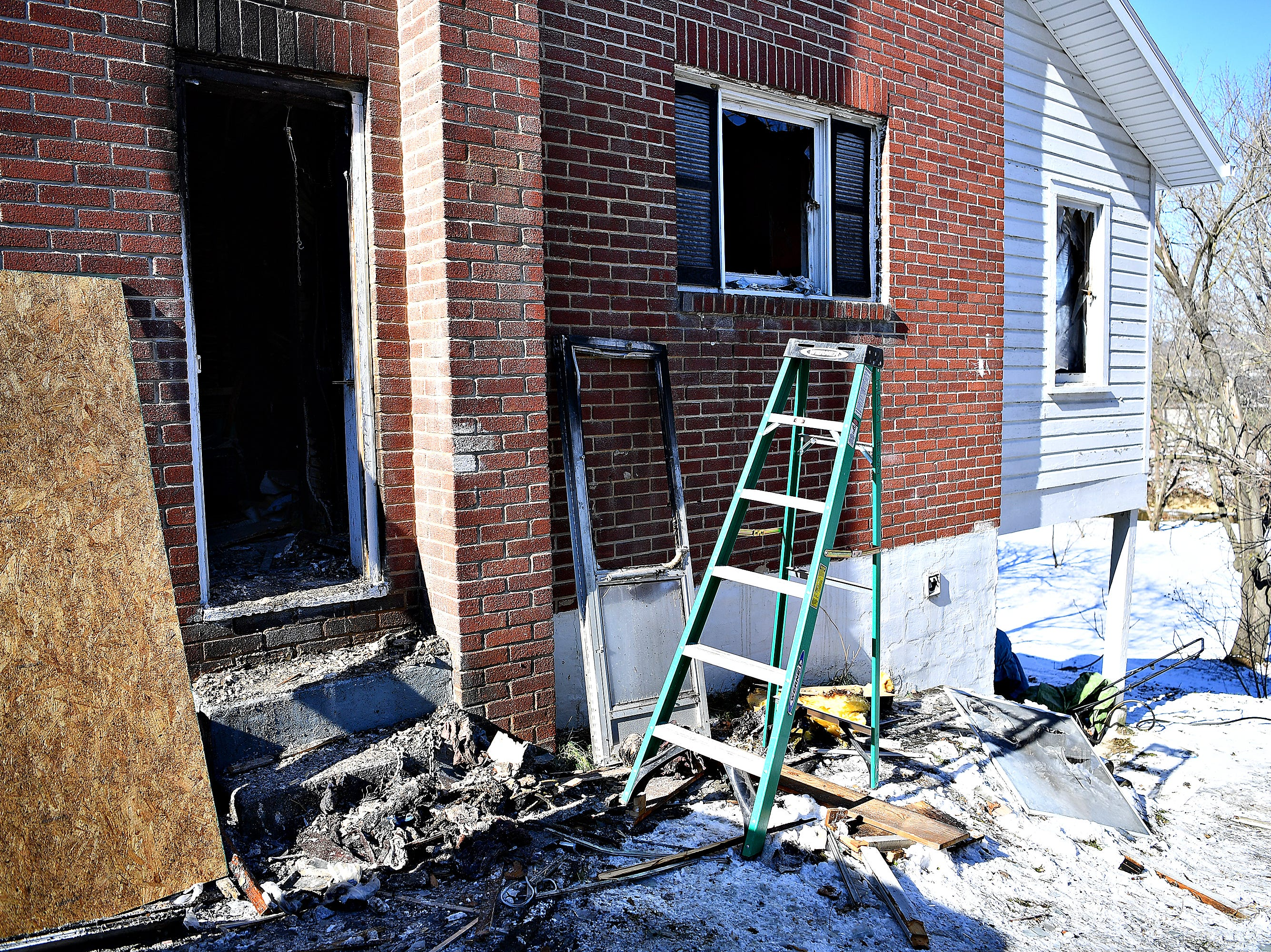 A home in the 700 block of South Front Street was damaged in an early morning fire in Wrightsville, Thursday, Jan. 31, 2019. Dawn J. Sagert photo